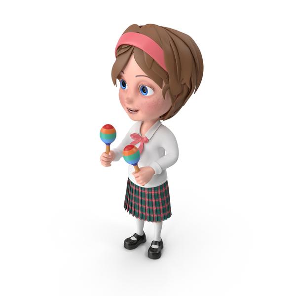 Cartoon Girl Meghan Playing Maracas PNG & PSD Images