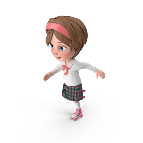 Cartoon Girl Meghan Skating PNG & PSD Images
