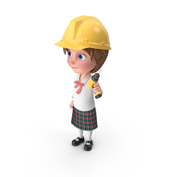 Cartoon Girl Meghan Worker PNG & PSD Images