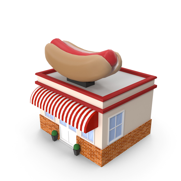 Cartoon Hot Dog Restaurant PNG & PSD Images