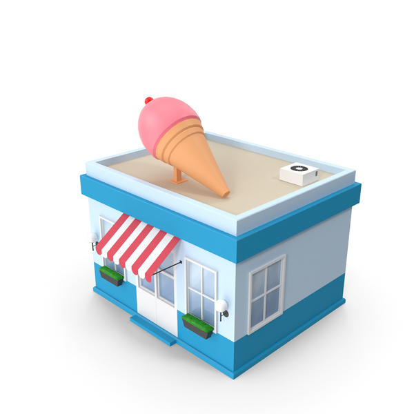 Cartoon Ice Cream Shop PNG & PSD Images