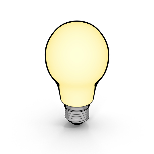 Cartoon Incandescent Bulb PNG & PSD Images