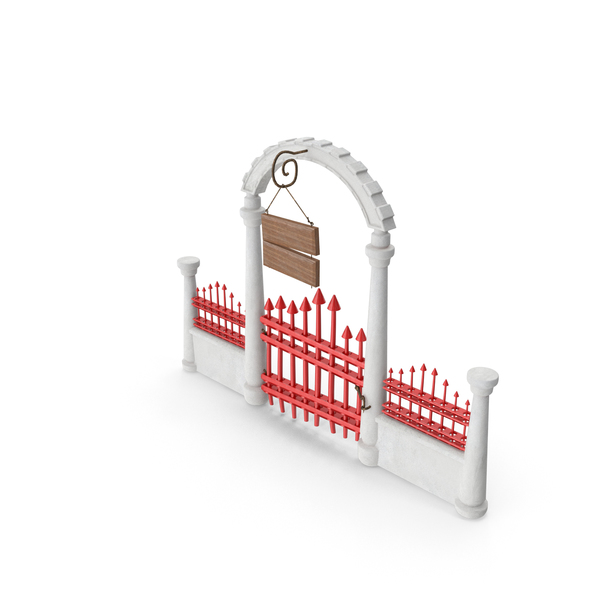 Cartoon Iron Gate PNG & PSD Images