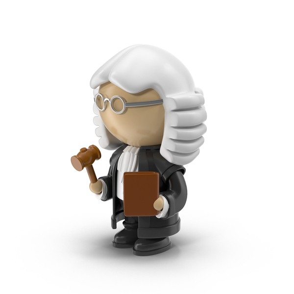 Cartoon Judge Character Object