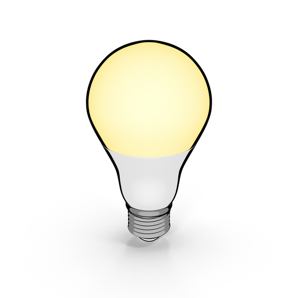 Cartoon Led Bulb PNG & PSD Images