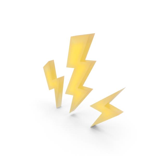 Cartoon Lightning Bolts PNG & PSD Images