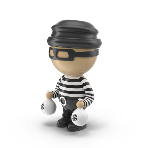 Cartoon Male Thief Object