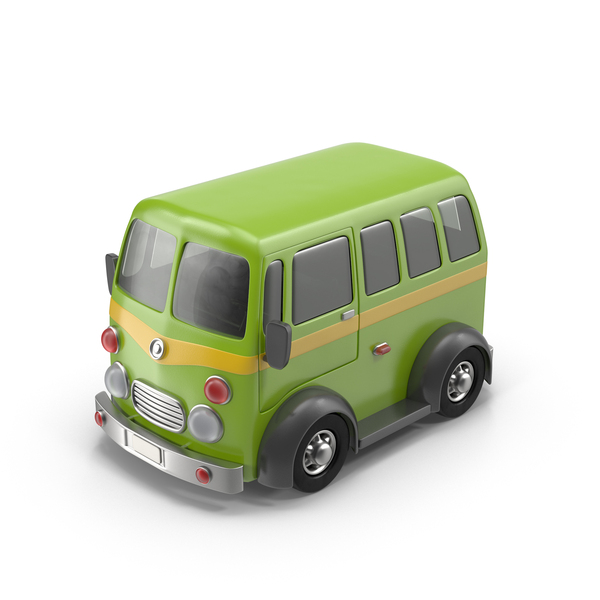 Toon Car: Cartoon Minibus Object