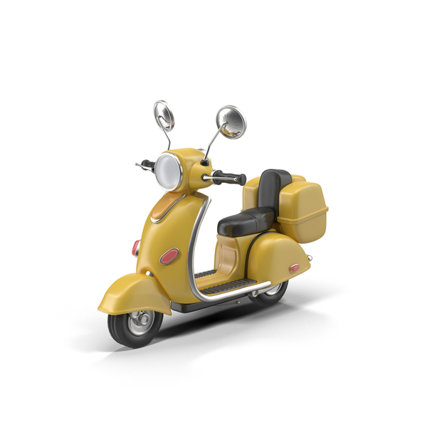 Cartoon Motor Scooter Object