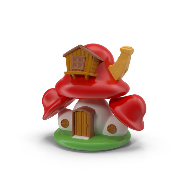 Cartoon Mushroom House PNG & PSD Images