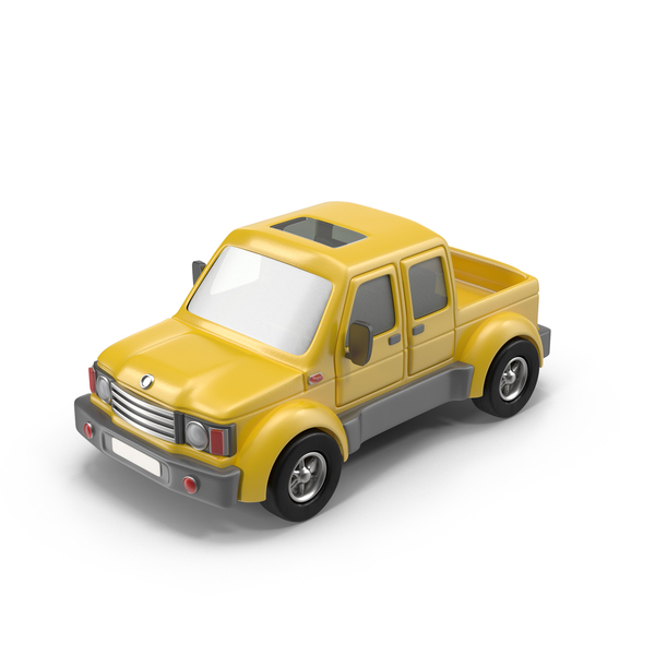 Toon Car: Cartoon Pickup Truck PNG & PSD Images