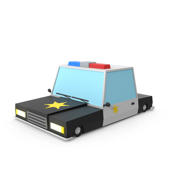 Cartoon Police Car PNG & PSD Images