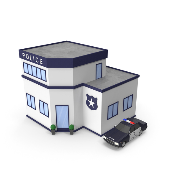 Cartoon Police Station PNG & PSD Images