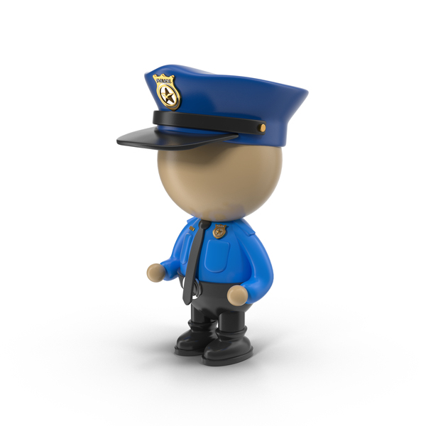 Cartoon Policeman Character Object