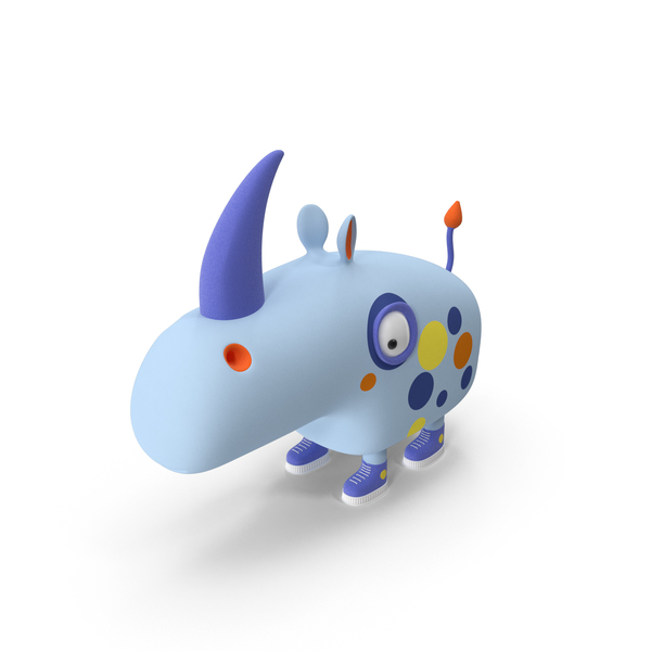 Cartoon Rhino PNG & PSD Images