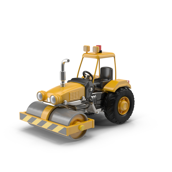 Cartoon Road Roller Object