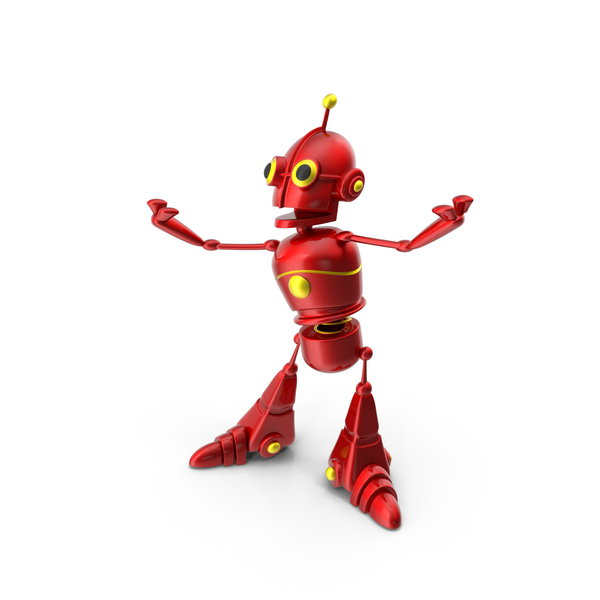 Cartoon Robot Happy PNG & PSD Images