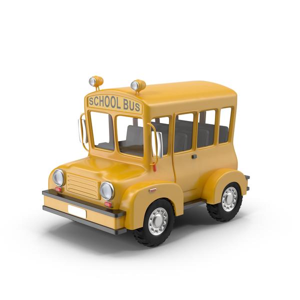 Cartoon School Bus Object