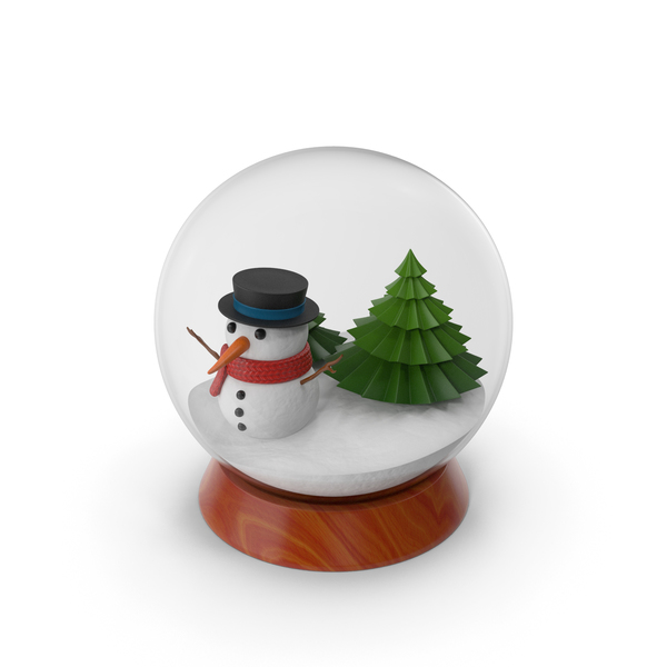 Cartoon Snow Globe PNG & PSD Images
