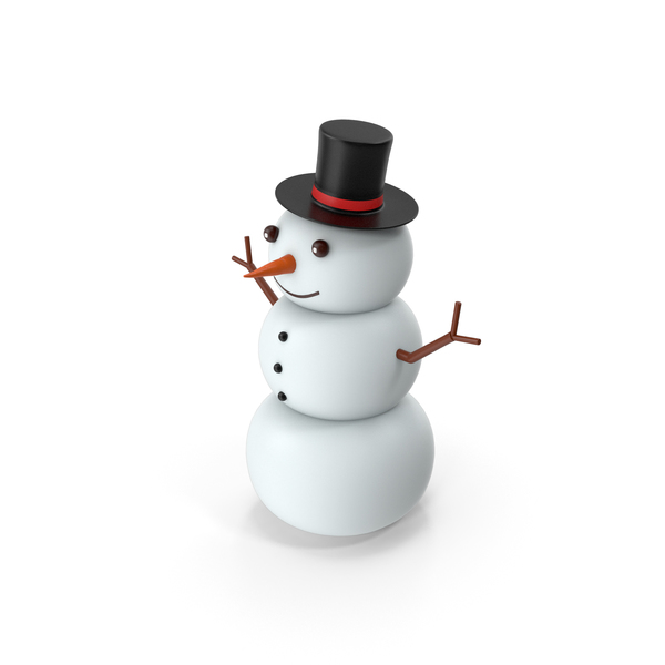 Cartoon Snow Man PNG & PSD Images