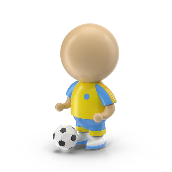 Cartoon Soccer Player Object