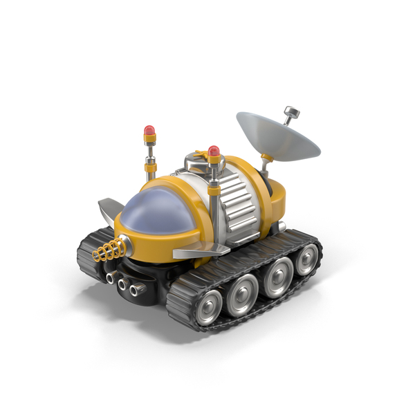 Cartoon Space Car Object