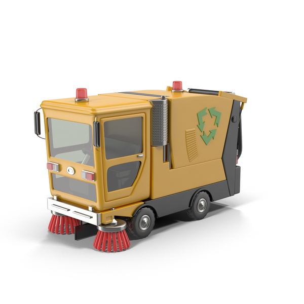 Toon Car: Cartoon Street Sweeper PNG & PSD Images