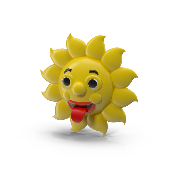 Cartoon Sun Character PNG & PSD Images