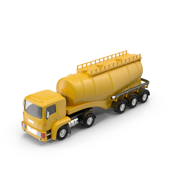 Toon Car: Cartoon Tanker Truck PNG & PSD Images