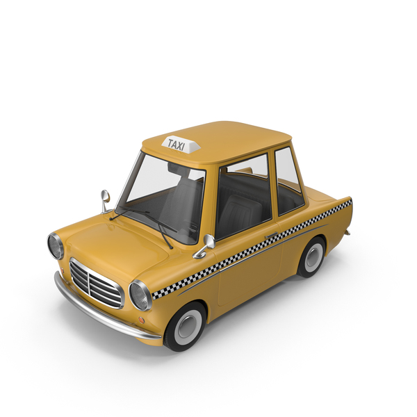 Car: Cartoon Taxi PNG & PSD Images