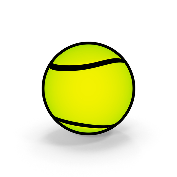 Cartoon Tennis Ball PNG & PSD Images
