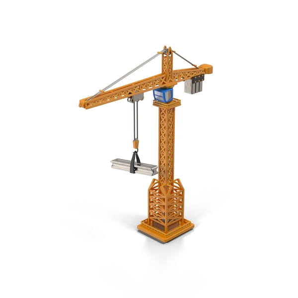 Cartoon Tower Crane Object