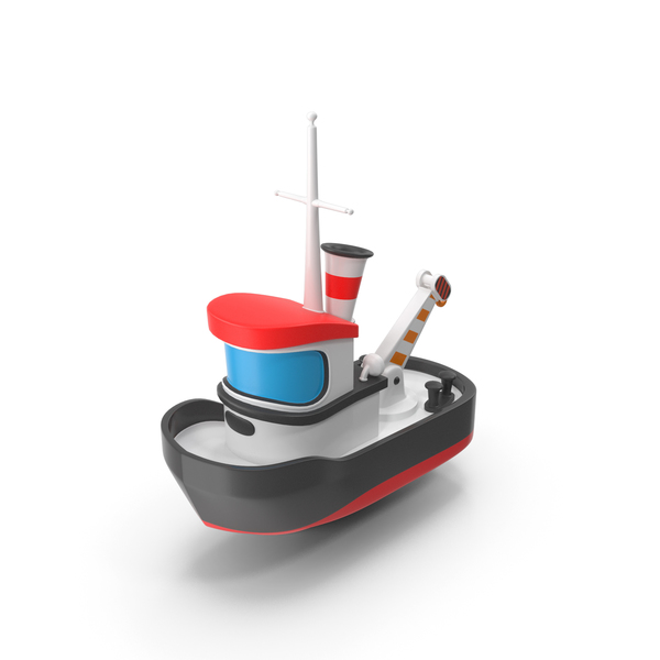 Cartoon Toy Tugboat PNG & PSD Images