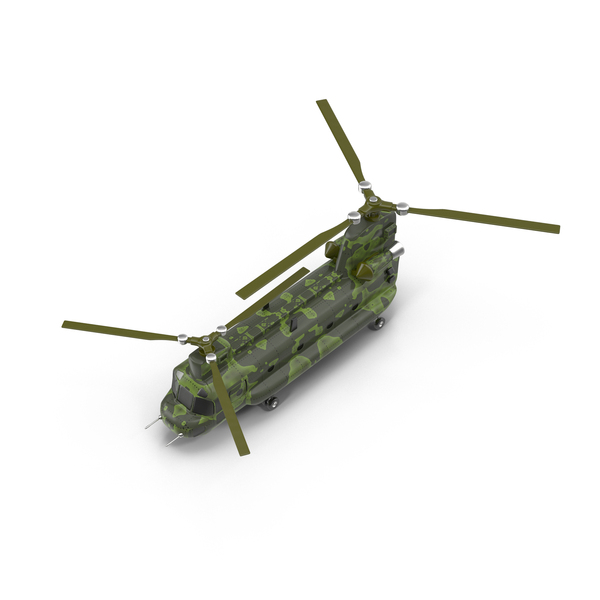 Cartoon Transport Helicopter Object