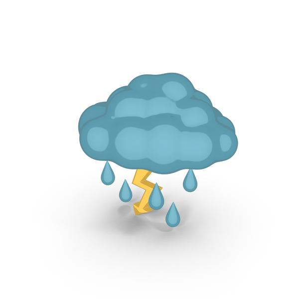 Cartoon Weather Forecast Thunderstorm PNG & PSD Images