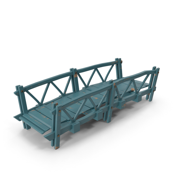 Cartoon Wood Bridge PNG & PSD Images