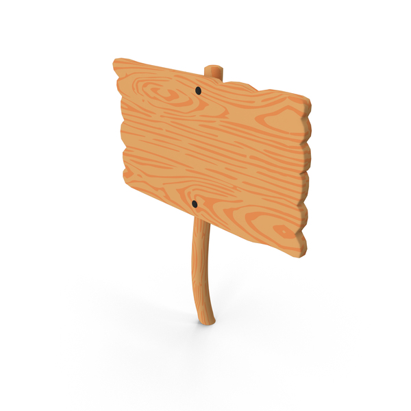 Trail: Cartoon Wood Sign PNG & PSD Images