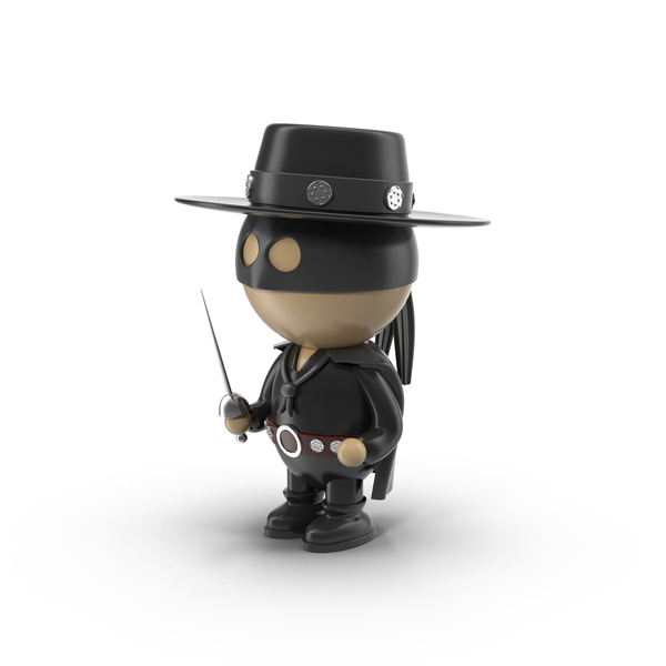 Cartoon Zorro Character Object