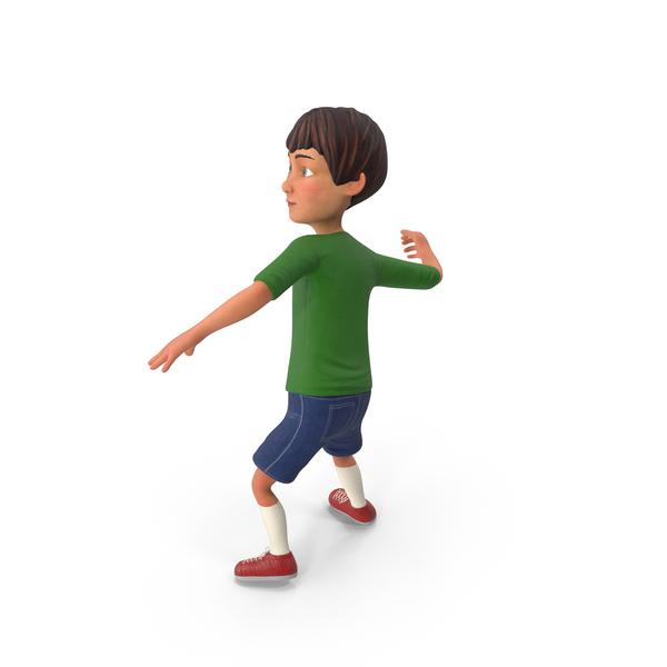 Cartoon: Cartoony Boy Throwing Pose PNG & PSD Images