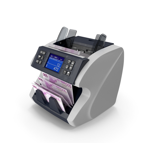 Cash Currency Counter Sorter Bills Euro PNG & PSD Images