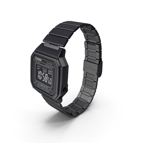 Casio b650wd-1a Black PNG & PSD Images