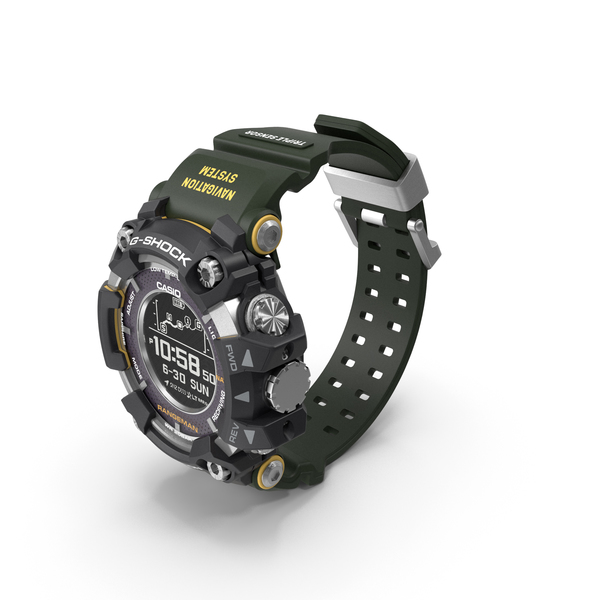 Casio G-Shock Rangeman GPR B1000 Khaki PNG & PSD Images