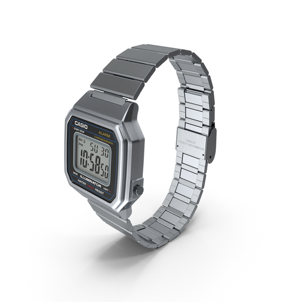 Casio Illuminator b650wd-1a Stainless Steel PNG & PSD Images