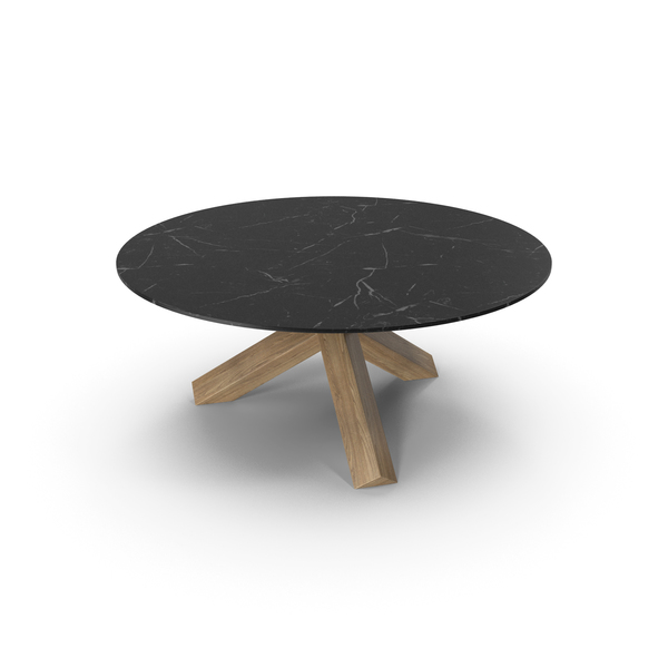 Cassina La Rotonda Table Oak Black PNG & PSD Images