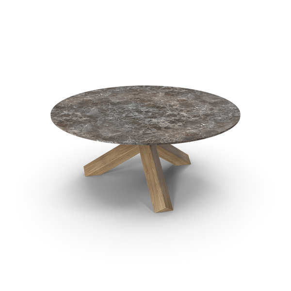 Cassina La Rotonda Table Oak Brown PNG & PSD Images