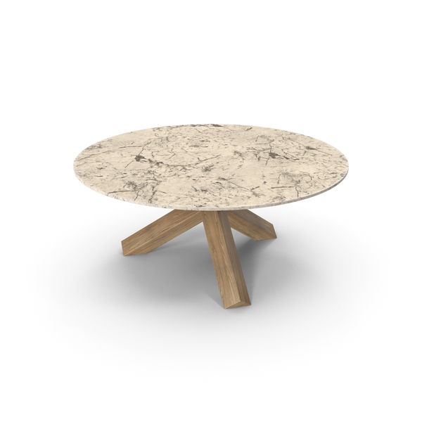 Cassina La Rotonda Table Oak Cream PNG & PSD Images