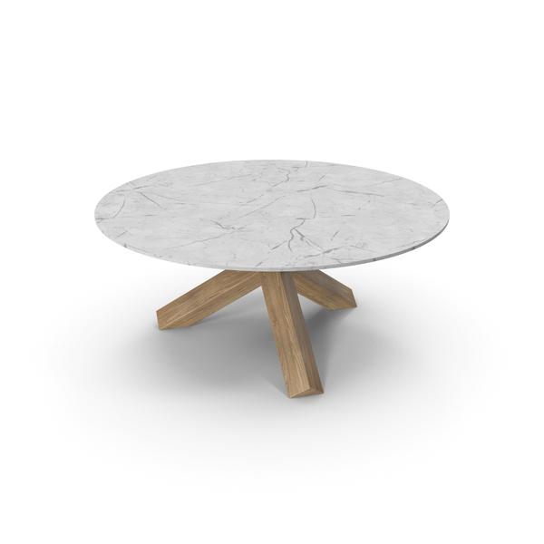 Cassina La Rotonda Table Oak White PNG & PSD Images