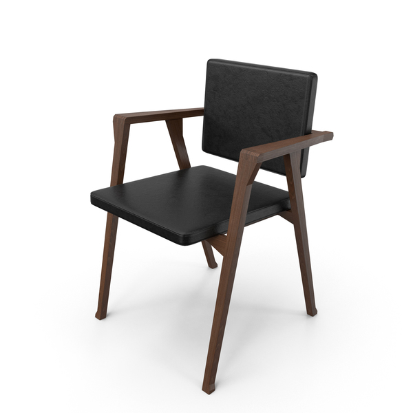 Cassina Luisa Chair Black Leather PNG & PSD Images