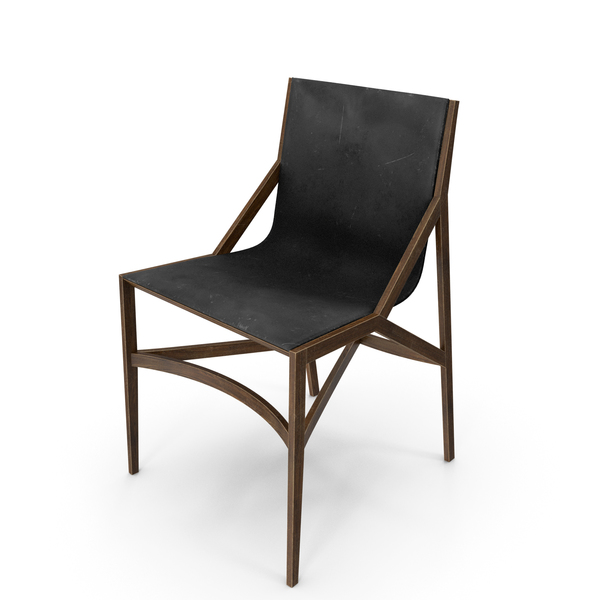 Cassina Pilotta Chair Black Damaged PNG & PSD Images