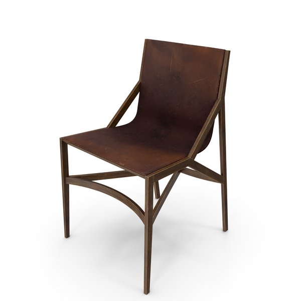 Cassina Pilotta Chair Brown Damaged PNG & PSD Images